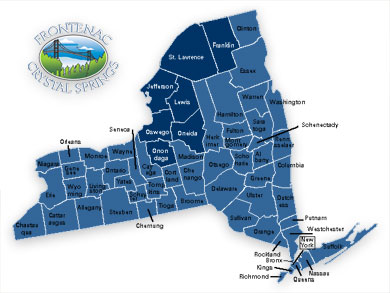 New York State Delivery Map - thumbnail - click to enlarge